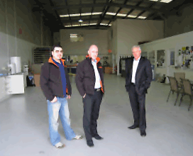 Image of Inscribe Team in Their New Factory