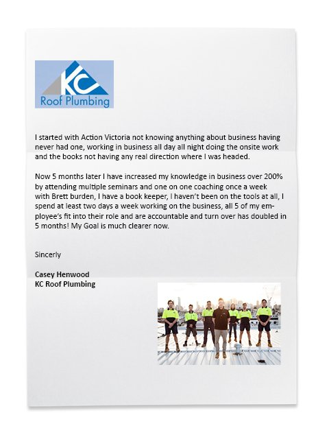 Scan of KC Roof Plumbing Reference Letter